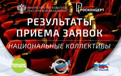 Экспертная комиссия согласовала список национальных коллективов, которые примут участие во Всероссийском гастрольно-концертном плане – «Большие гастроли» в 2021 году